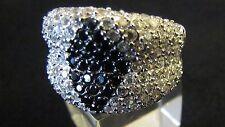 Ring Silber 925 Rodiniert mit Zirkonen 60 Größe