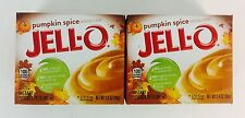 2X Boxes Jell-O Instant Pumpkin Spice Pudding Pie Filling Mix 3.4oz Seasonal