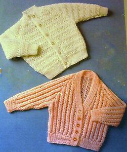 R-29-Baby-Girls-2x-4ply-Cardigans-18-22-034-Knitting-Pattern