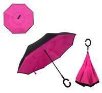 Double Layer C-Handle Inverted Upside Down Waterproof Reverse Umbrella UK