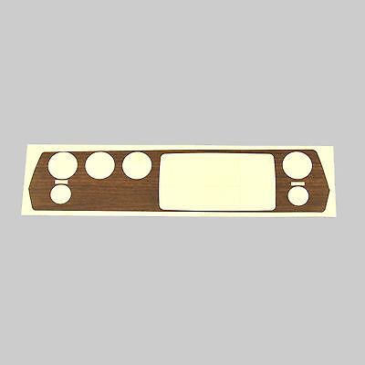 DMT Mopar 70-71 E Body Rallye Dash Woodgrain Vinyl Overlay 4 hole switch 3M