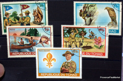 Stamps canceled Chad SCOUT LORD BADEN POWEL af03