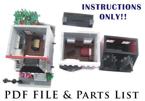 Lego Custom Modular Building House INSTRUCTIONS ONLY!!