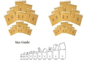 Postal-Padded-Envelopes-Gold-Bubble-Wrap-Various-Quantity-Recycle-Bags-All-Sizes