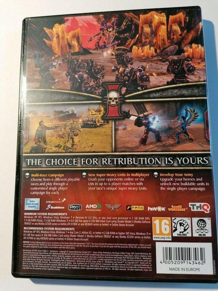 WarhammerDawn of War - Retribution, til pc, action