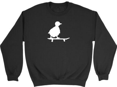 Duck Skate Boys Girls Funny Childrens Kids Jumper Sweatshirt