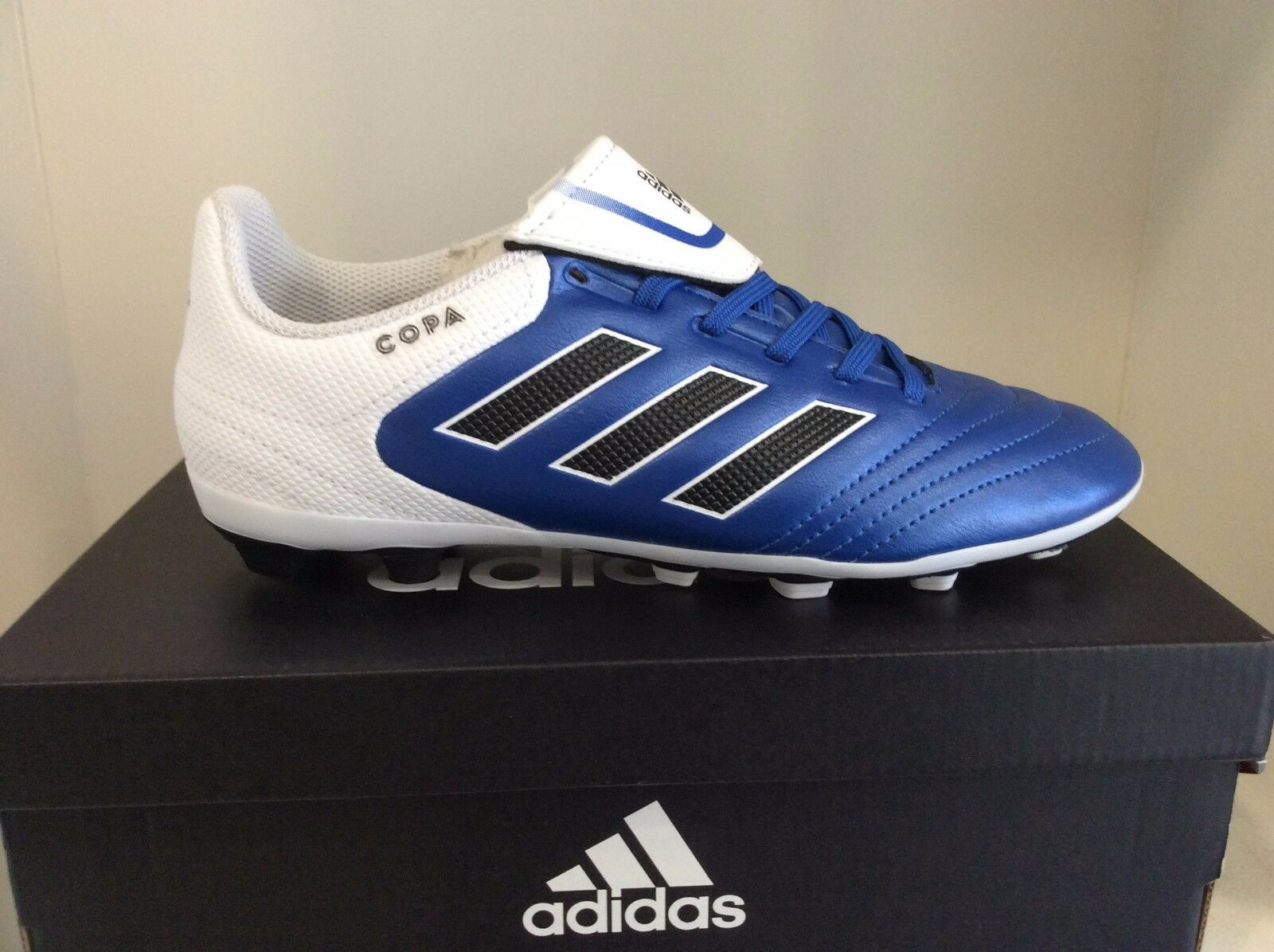 188d1b5f3 Adidas Copa 17.4 FxG J Firm Ground Soccer Cleats bluee and White Youth  Sizes.