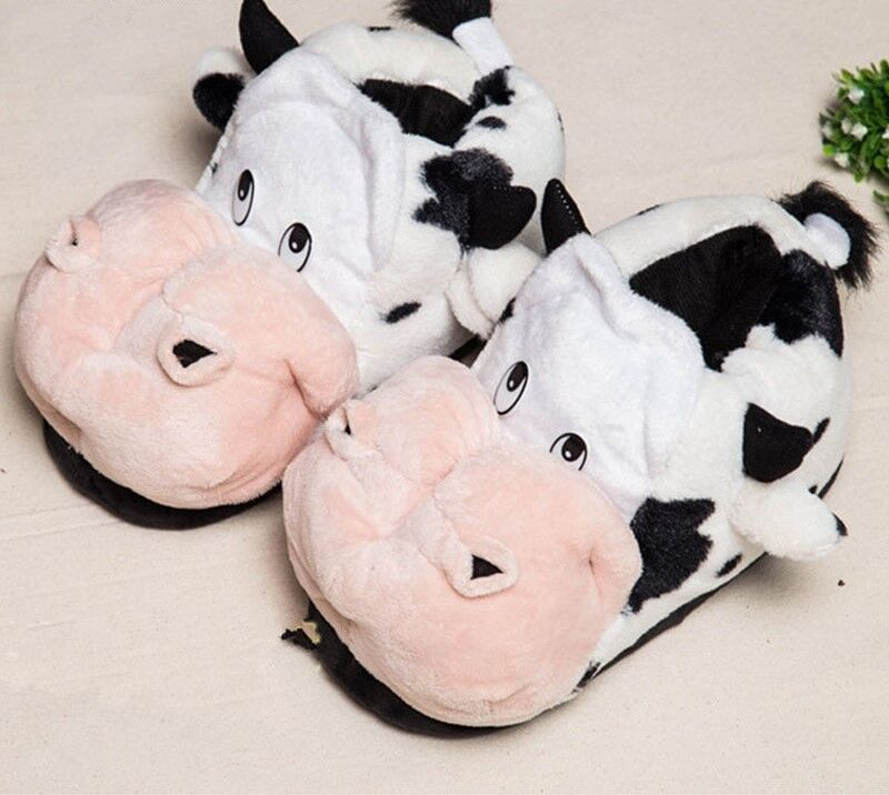 New winter Uomo Donna Donna Uomo home slippers cotton cute cartoon cow shoes indoor slippers a936fd