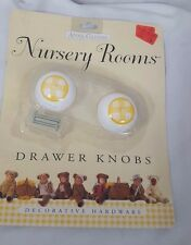 Anne Geddes Nursery Room Drawer Knobs Decortive Hardware Yellow and White