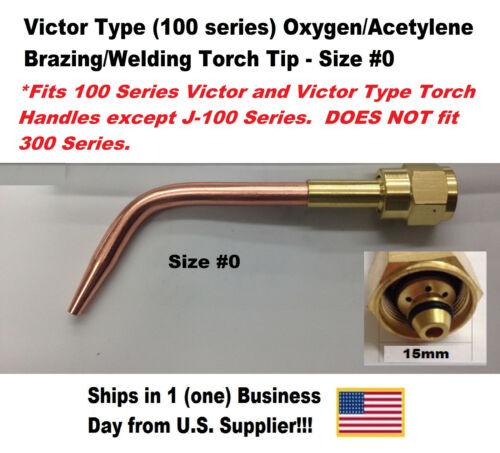 Victor Type Oxygen//Acetylene Brazing Welding Torch Tip Size #0 100 Series