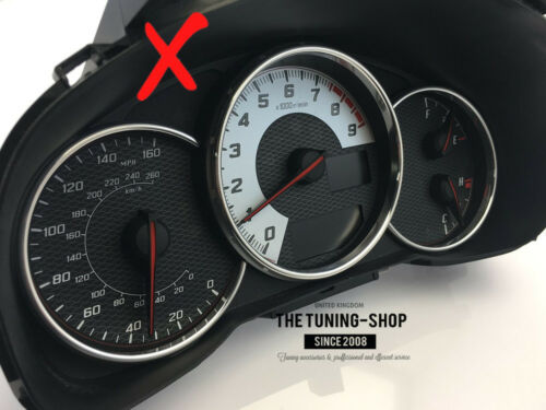 Gauge Rings For Toyota GT86 Subaru BRZ Polished Aluminium Chrome Trim Surrounds