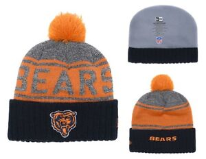 8c7ada5e436 ... hot image is loading 2018 chicago bears new era nfl knit hat 10026 33ae9