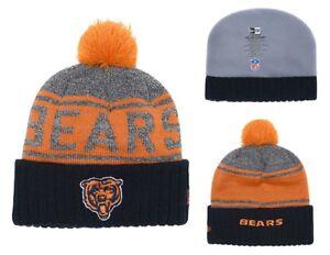 2018 Chicago Bears New Era NFL Knit Hat On Field Sideline Beanie Hat ... dbd9b1d9d02