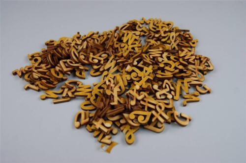 Craft Wooden Letters Digits Adhesive Plain Alphabet 250 Upper Case NF9 2cm