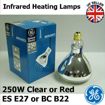 250w Infrared Heat Lamp Bulb Ruby Red/clear Es E27 Bc B22 With Traditional Methods