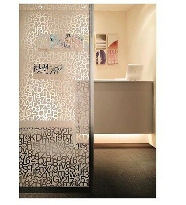 Patterned Decorative White Frosted Window Film Privacy Frosted Glass Film Them Ebay