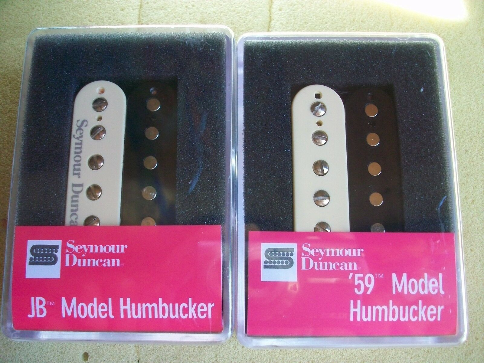 Seymour Duncan Sh-4 JB and Sh-1n 59 Model Humbucker Pickup Set Zebra