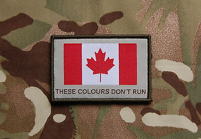 CANADA FLAG Red White Military Morale Patch Army POLICE Mounties JTF2 CadPat