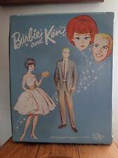 1964 Barbie and Ken Wardrobe Carrying Case Cardboard Inserts Display Trunk MCM