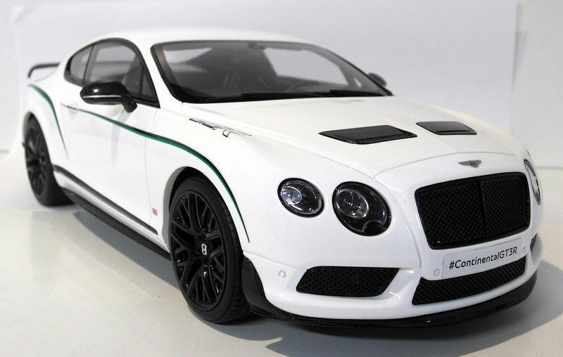 GT anda 1  18 skala GT121 Bentley Continental GT3 -R Wht hkonsts förseglad modellllerlbil