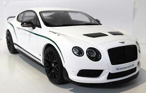 Gt-spirit-1-18-echelle-GT121-bentley-continental-GT3-R-wht-resine-scelle-voiture-modele