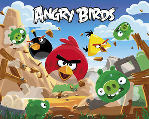 ANGRY BIRDS POSTER (40x50cm)  NEW LICENSED ART