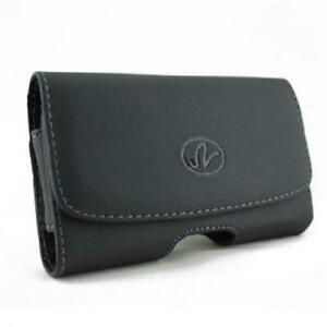 BLACK-HORIZONTAL-LEATHER-SIDE-CASE-COVER-PROTECTIVE-POUCH-HOLSTER-for-SMARTPHONE