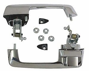 69-70 Chevy B Body Outside Front Door Handle Kit 2 Door Trim Parts USA MADE