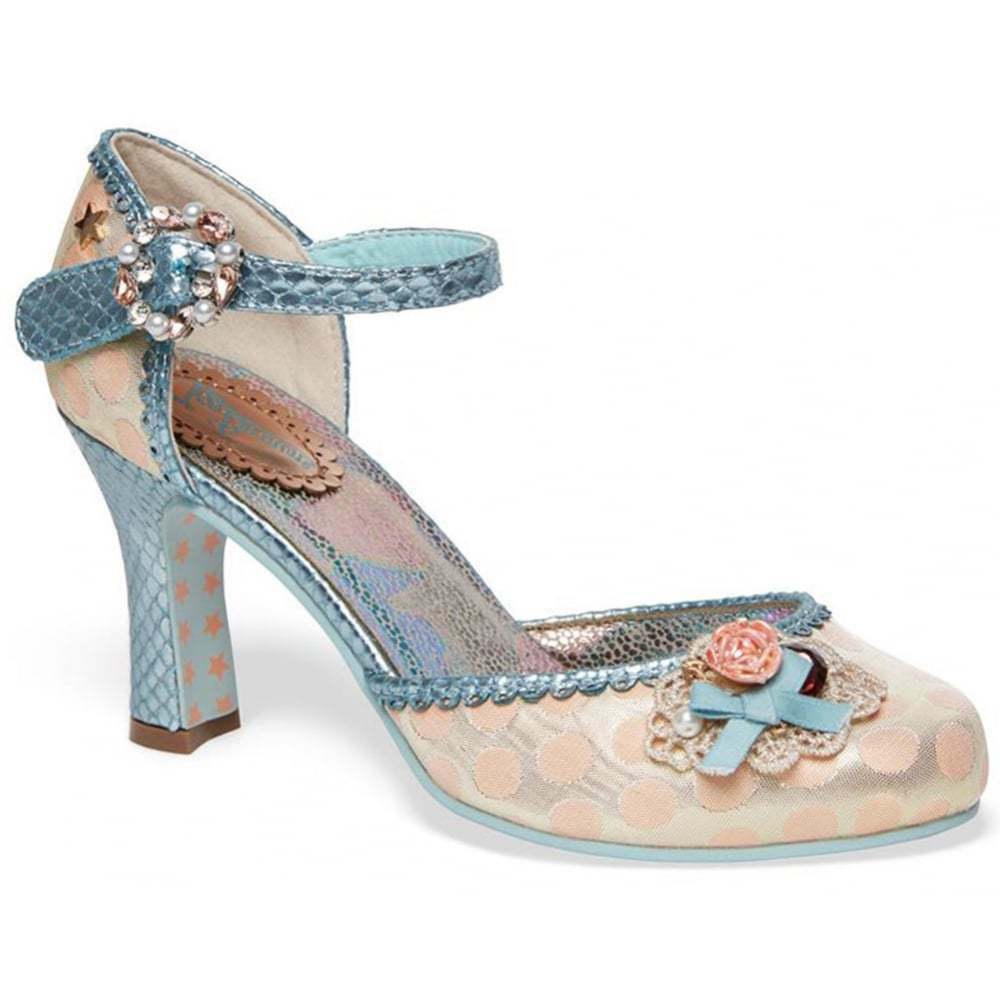 Joe Joe Joe Browns Couture Peach/Blue Court Shoes NEW SS18 RRP .95 Size 3 a4cab7