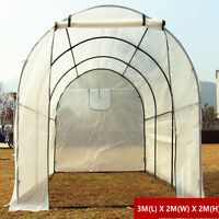 Door Window Large Walk In Greenhouse Garden Plant House Shed Pe Cover Arch Roof