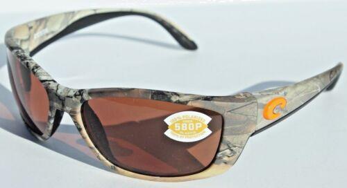 COSTA DEL MAR 580 Fisch POLARIZED Sunglasses Realtree Xtra Camo//Copper 580P NEW