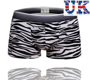 "Men's Sexy Zebra Print Stretchy Boxers **to Fit 27"" Men's Clothing 36""**uk Seller** Ohne RüCkgabe Underwear"