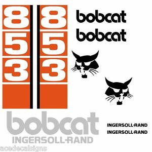 ANY-MODEL-Bobcat-853-853H-DECALS-Stickers-Skid-Steer-loader-New-Repro-decal-Kit