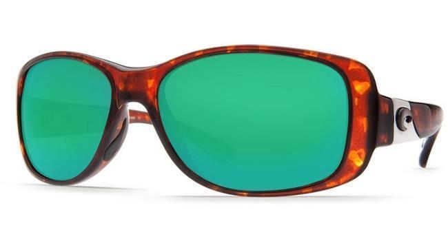 New Costa Del Mar Tippet Polarized Sunglasses 580P Tortoise Green Mirror