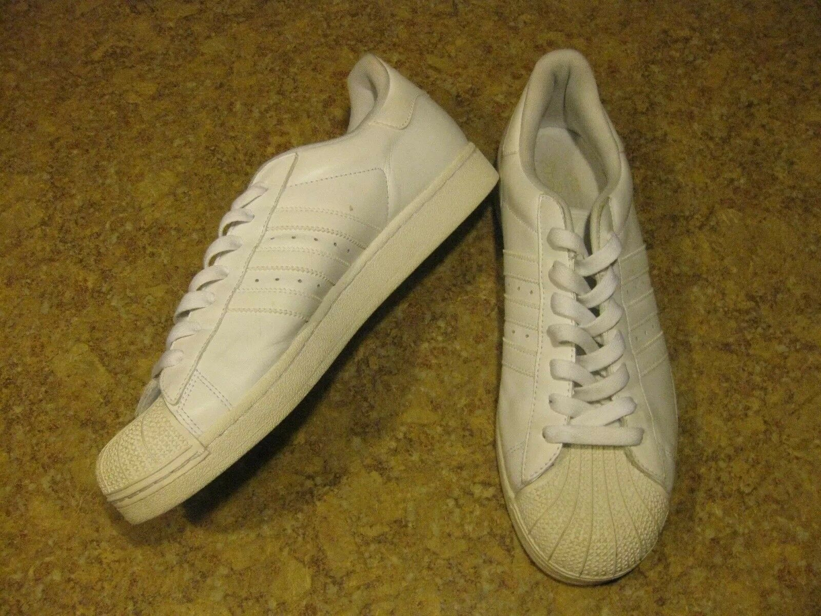 Adidas Men's White Superstar S Classic Sneakers Shell Toe Comfortable Great discount
