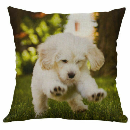 Animal Cushion Cover Decor Home Printing Pillows Case Fish Cotton Linen Dog