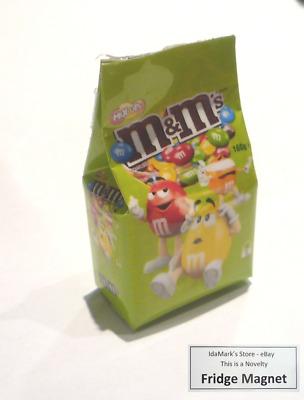 "M/&M Mini Chocolate Blue Bag FRIDGE MAGNET Novelty Indonesia 3D M/&M/'s 2/"" Tall"