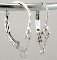 10pcs 925 Sterling Silver Lever Back Fleur De Lis Leverback Earring Findings E02