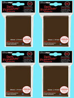 200 Ultra Pro Brown Deck Protector Card Sleeves Standard Size 4 Packs Gaming Mtg