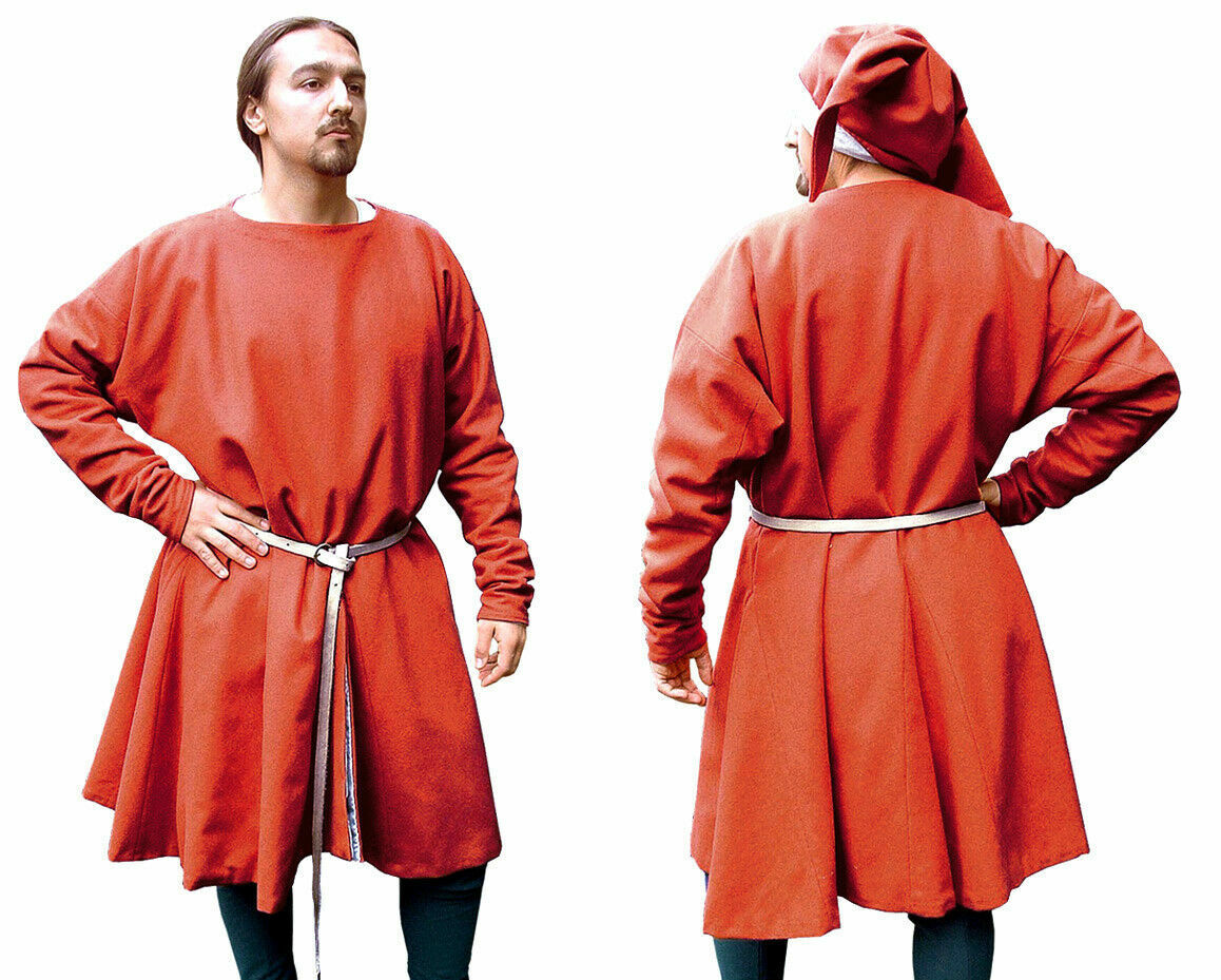 MEDIEVAL CELTIC VIKING Red Tunic Surcoat Renaissance Reenactment Clothing Best
