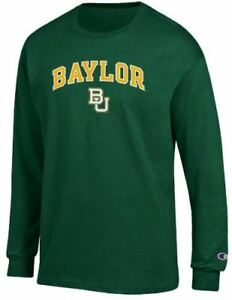 sale retailer e6967 c216a Image is loading Baylor-Bears-Arched-Stadium-Long-Sleeve-T-Shirt-