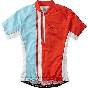 Madison Tour sleeve Damens's short sleeve Tour jersey, chilli ROT / sea Blau Größe 12 48aee1