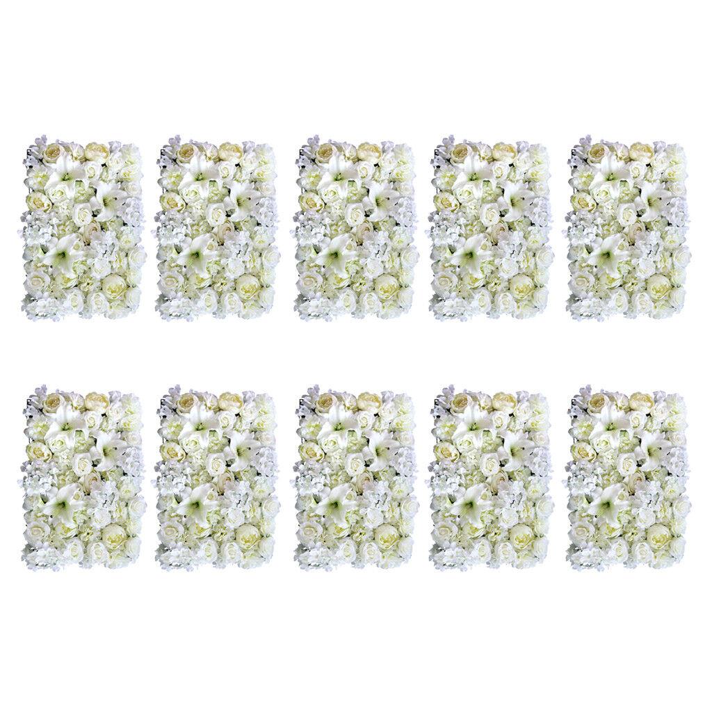 10pcs Artificiale Rose Peony Lily Flower Wall Pannelli Decorazione di nozze