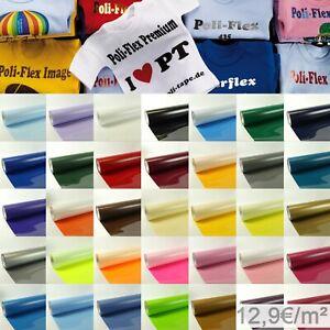 (12,90€/m²) POLI-FLEX PREMIUM FLEXFOLIE freie Farbauwahl 50cm x1m vom Fachhandel