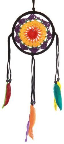 12 cm oder 16 cm Traumfänger in 2 Größen Dreamcatcher Regenbogen gehäckelt