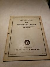 Hough Ha Payloader Operating Manual 1955 Ha 2d Oper