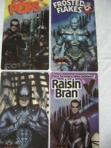 RARE-SET-FOUR-1997-KELLOGG-S-3D-LENTICULAR-BATMAN-ROBIN-BATGIRL-MOVIE-CARD
