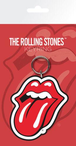 Rolling Stones Tongue Logo  PVC flexible keyring ge