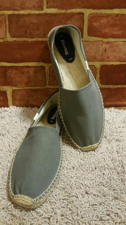 New Soludos Original Canvas Dali Grey Donna Scarpe Casual Scarpe Flat SZ 13 2064
