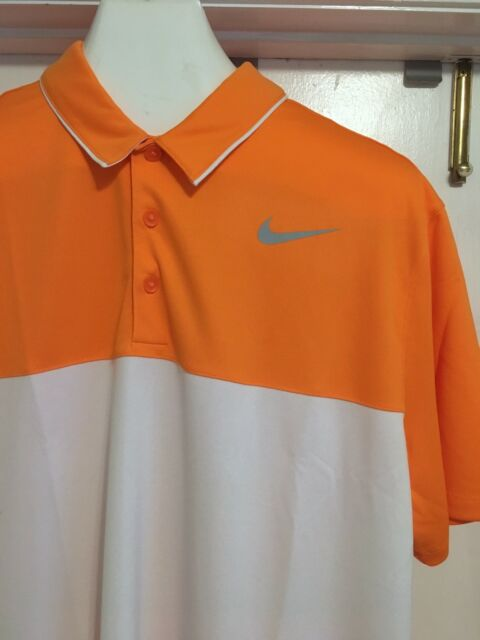 7d147e07 XL Nike Icon Color Block DriFit Polo 880285 Color 856 Orange White Retail  $65